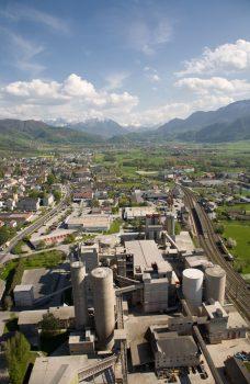 Luftaufnahme des Kirchdorfer Zementwerks
