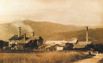 Das Zementwerk in den 1940er - Jahren