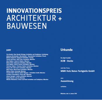 Innovationspreis für XC®-Decke