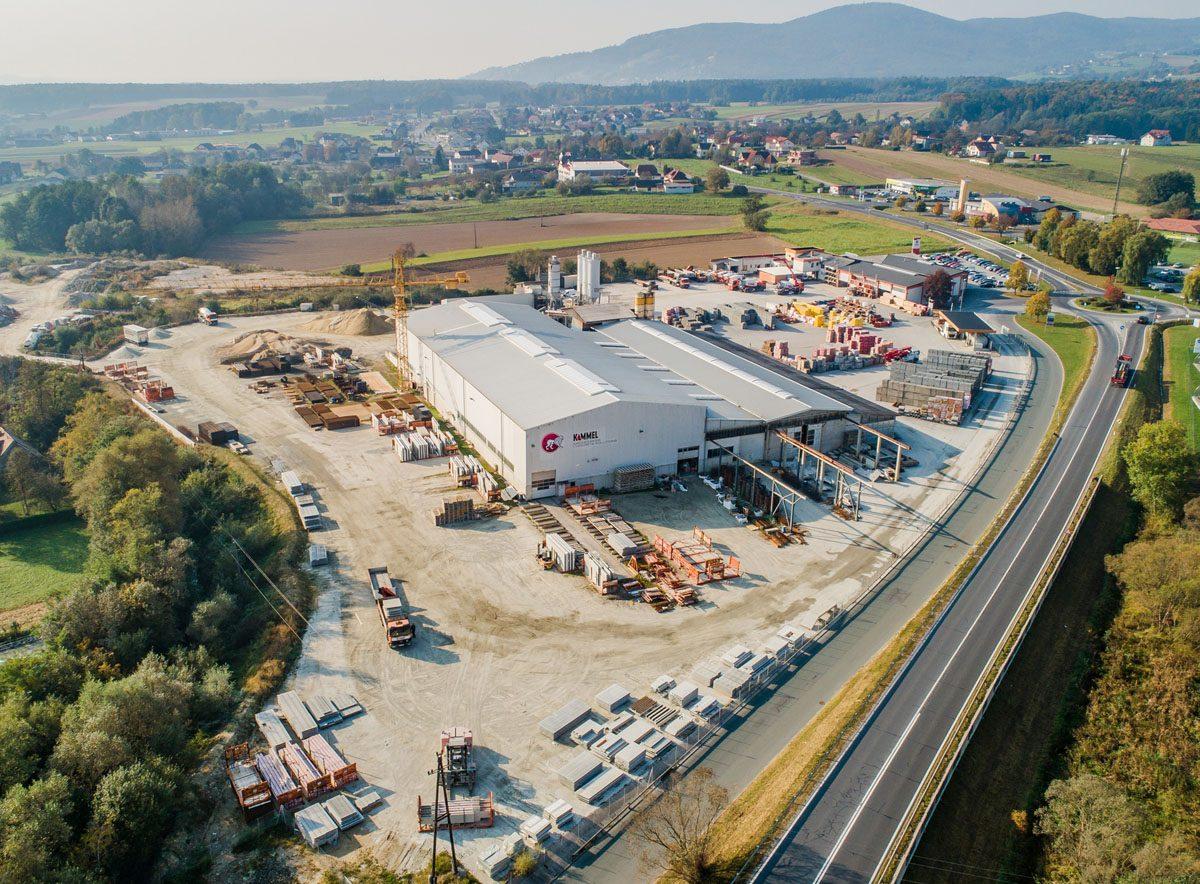Das aktuelle Werksgelände des steirischen Leitbetriebes KAMMEL