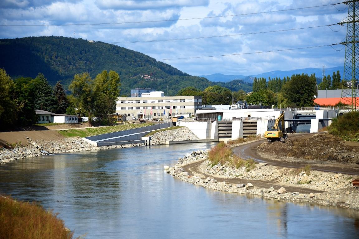 Die Arbeiten am Wasserkraftwerk in Graz gehen ins Finale