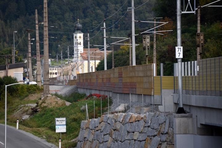 Ausbau der Bahnstrecke sowie Neubau einer Haltestelle Wernstein am Inn