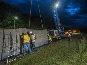 Errichtung Lärmschutzwand und Brückensanierungen B 21 in Wöllersdorf-Steinabrückl